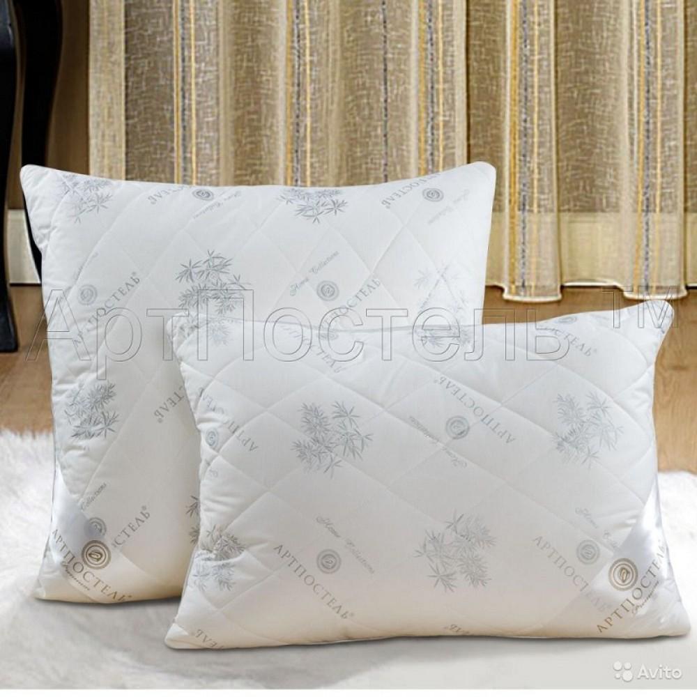 Подушка АртП Бамбук  70*70 тик на молнии 100% хлопок