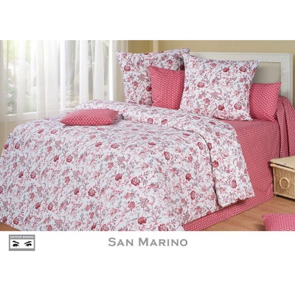 КПБ CD перкаль дуэт San Marino 215*150 (2шт)  220*240 70*70 (Премиум)