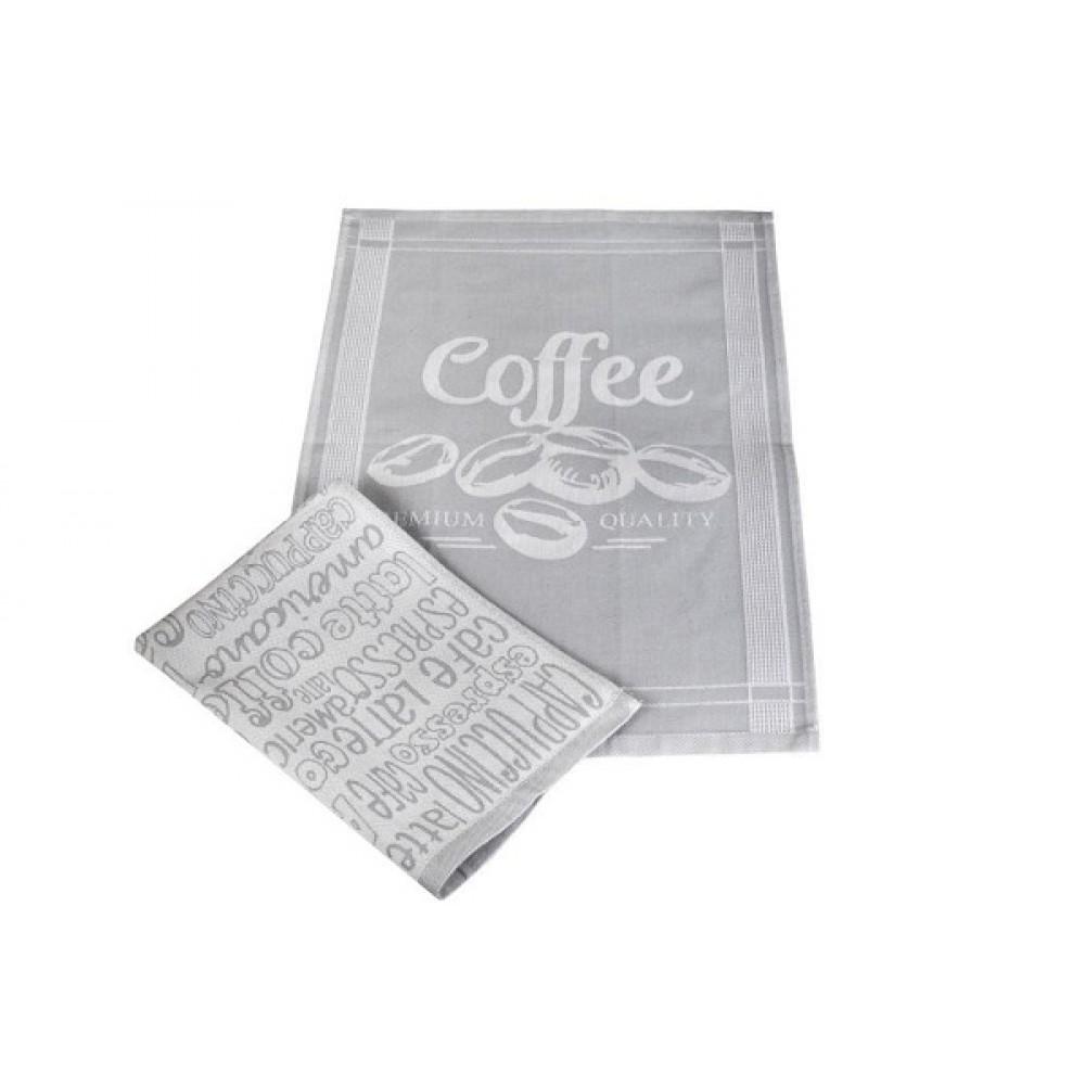 Набор полотенец кухонных Египет 2 шт 40*60 Espresso серый 100% хл.