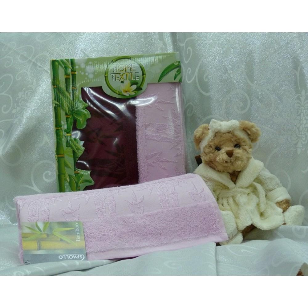 Набор Spaollo  Бамбук 50*90 (2шт) бордо+розовый