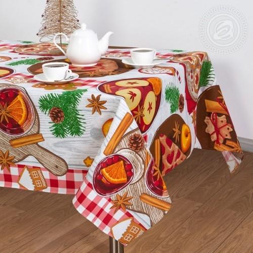 Скатерть Рогожка 150*220 Пряничный домик 100% хлопок
