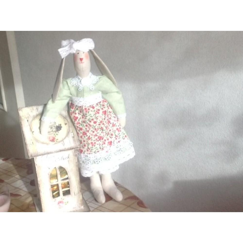 Игрушка Ручная работа Кукла Зайка в юбочке и жакете