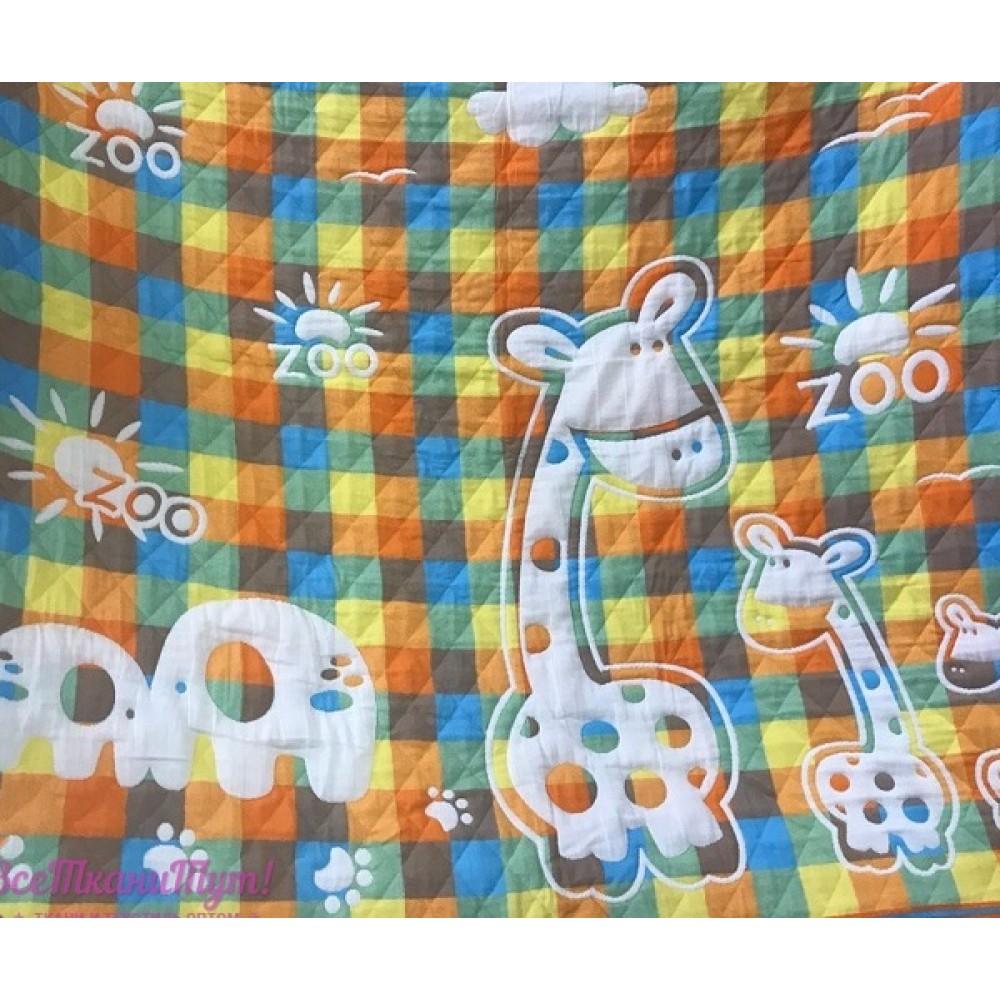 Плед-простыня 7-я детский Жираф 110*110 в упаковке