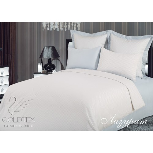 КПБ GOLDTEX PremiumLine Евро Лазурит 200*220 220*250 50*70 70*70 сатин-жаккард 100% хл