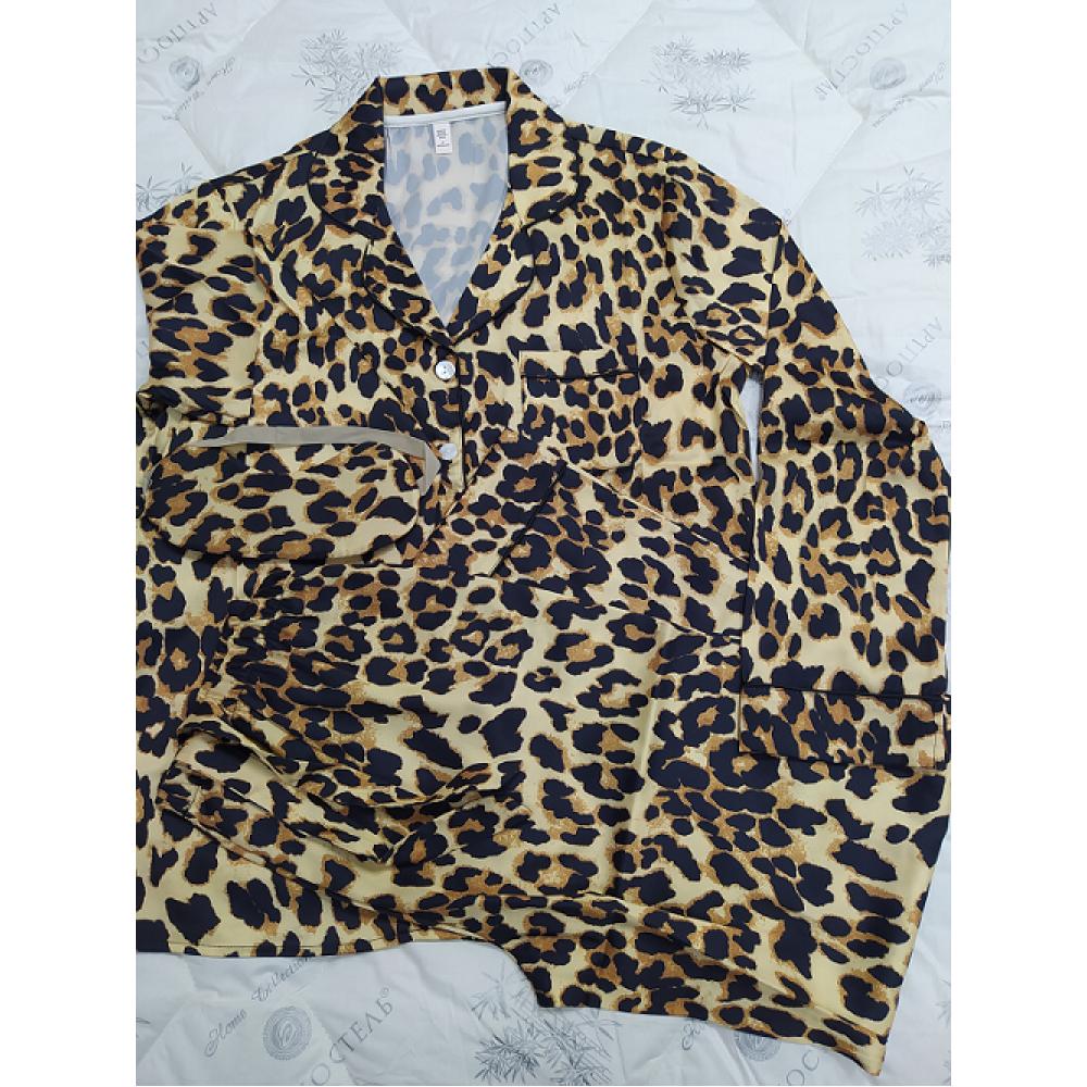 Arttextile Пижама VS Leo р.М атлас рубашка брюки повязка для сна