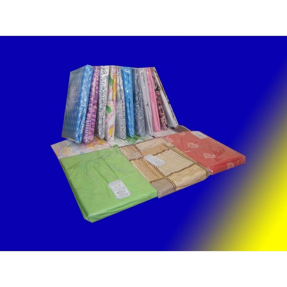 Простыня на резинке поплин цветная 140*200*20