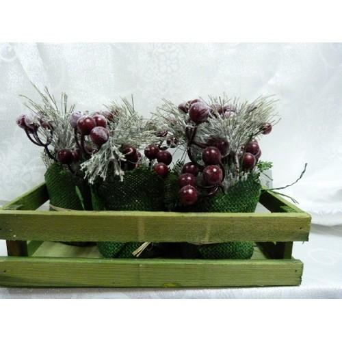 Декор Цветы L24W16 15 см полимерные материалы
