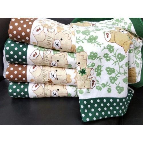 Полотенце Bolangde  70*140 Детское Мишки 78 зеленый