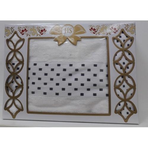 Набор полотенец махровых Кеннет крем 2пр 80*140 50*90 100%хл Египет