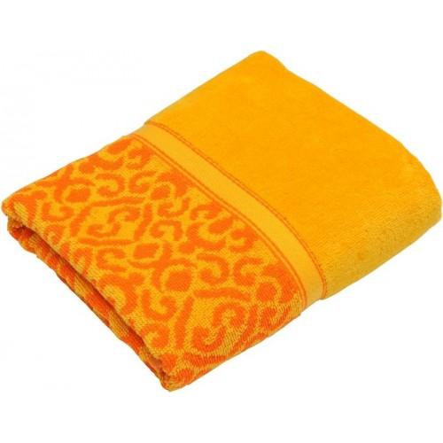 Полотенце Египет махровое Флора 50*90 100% хл. оранжевый