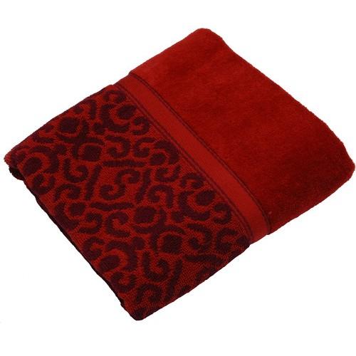 Полотенце Египет махровое Флора 70*140 100% хл. бордовый