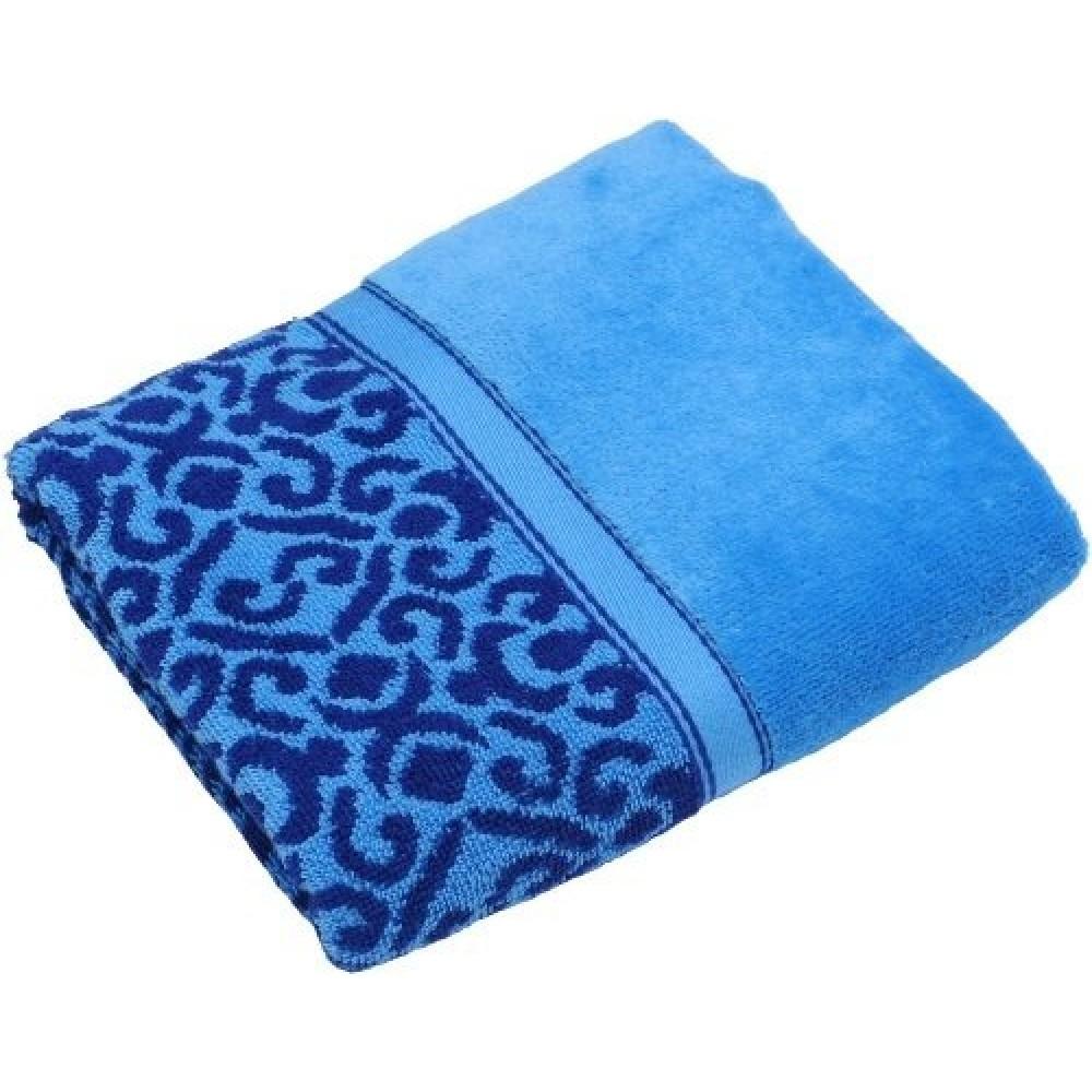 Полотенце Египет махровое Флора 70*140 100% хл. синий