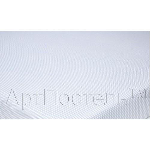 Наволочка  АртП 70*70 (2) клетка серая трикотаж на молнии 100% хлопок