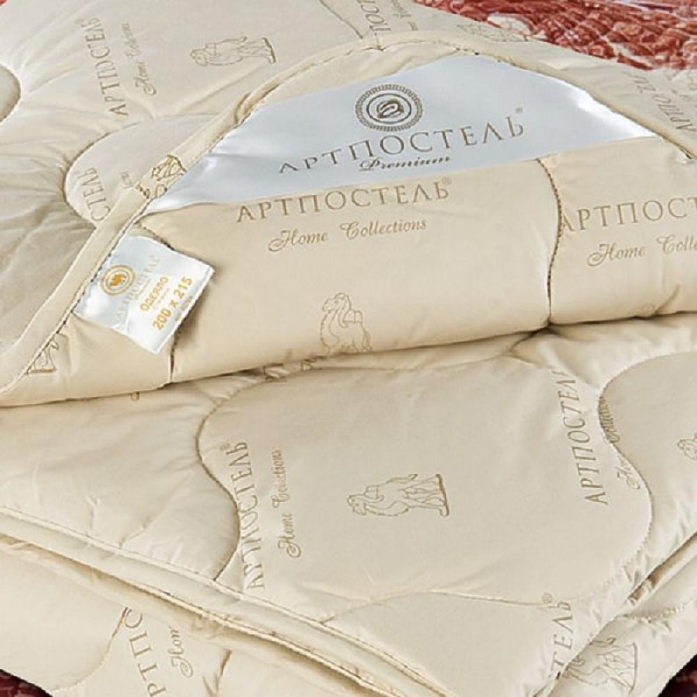 Одеяло АртП Верблюжья шерсть  1,5сп 140*205 тик 100%хл