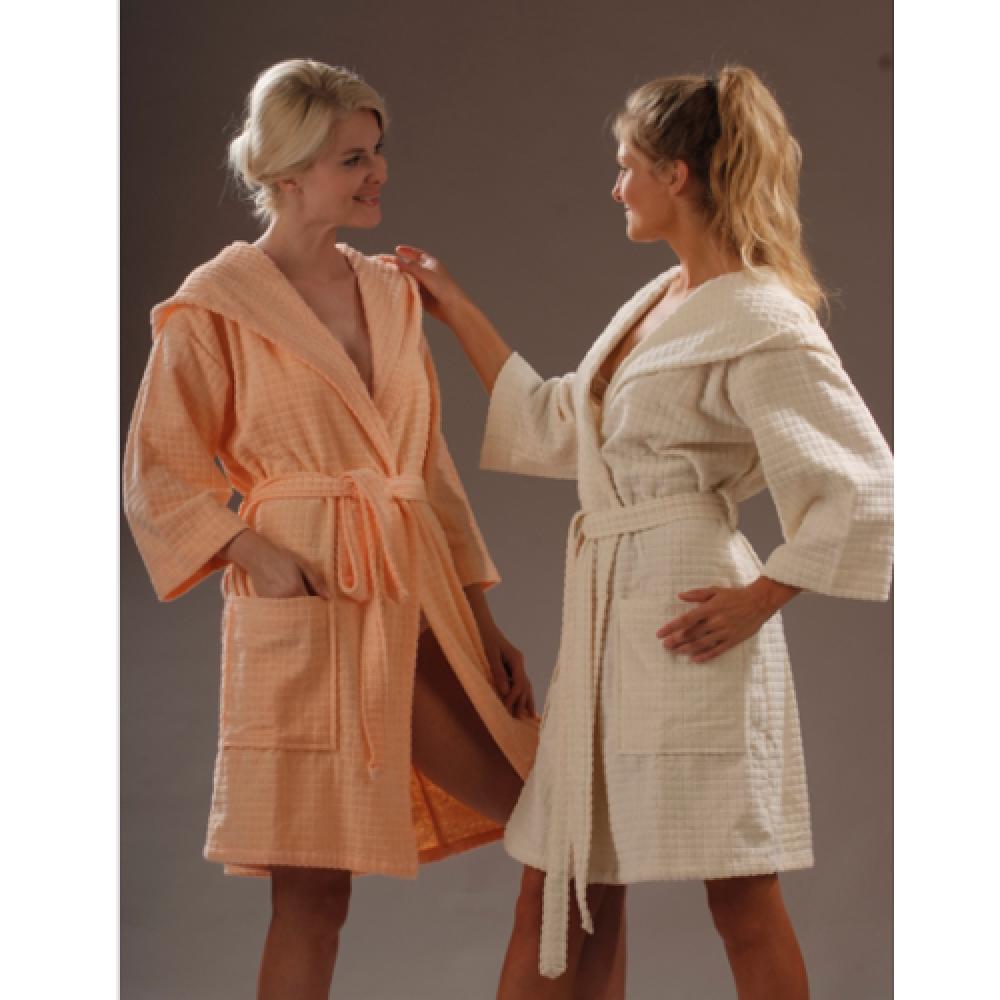 Халат Buddemeyer женский Soft Charm Kapuz 1011 белый универсал
