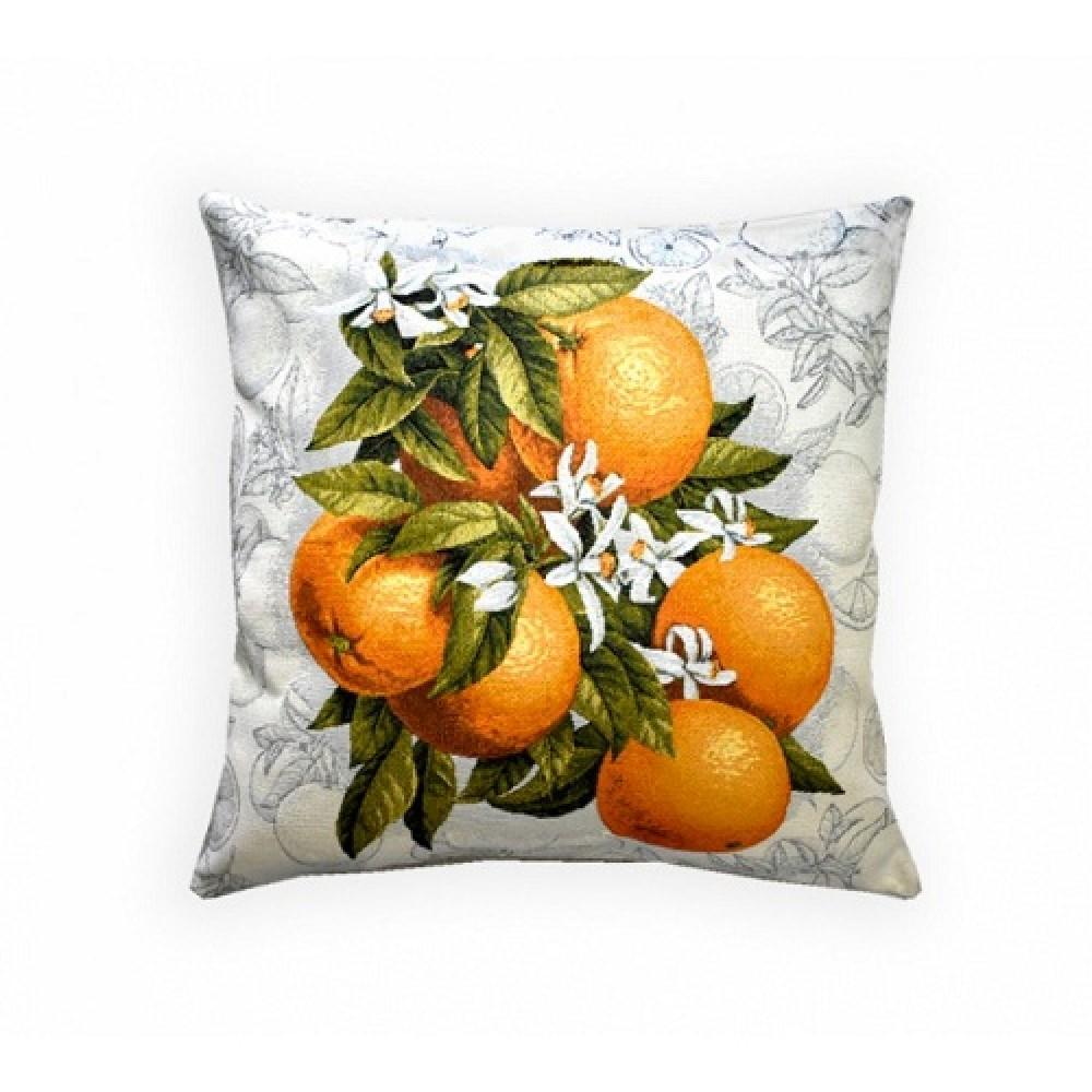 Наволочка MidaVaneri гобелен 45*45 Апельсины на ветке
