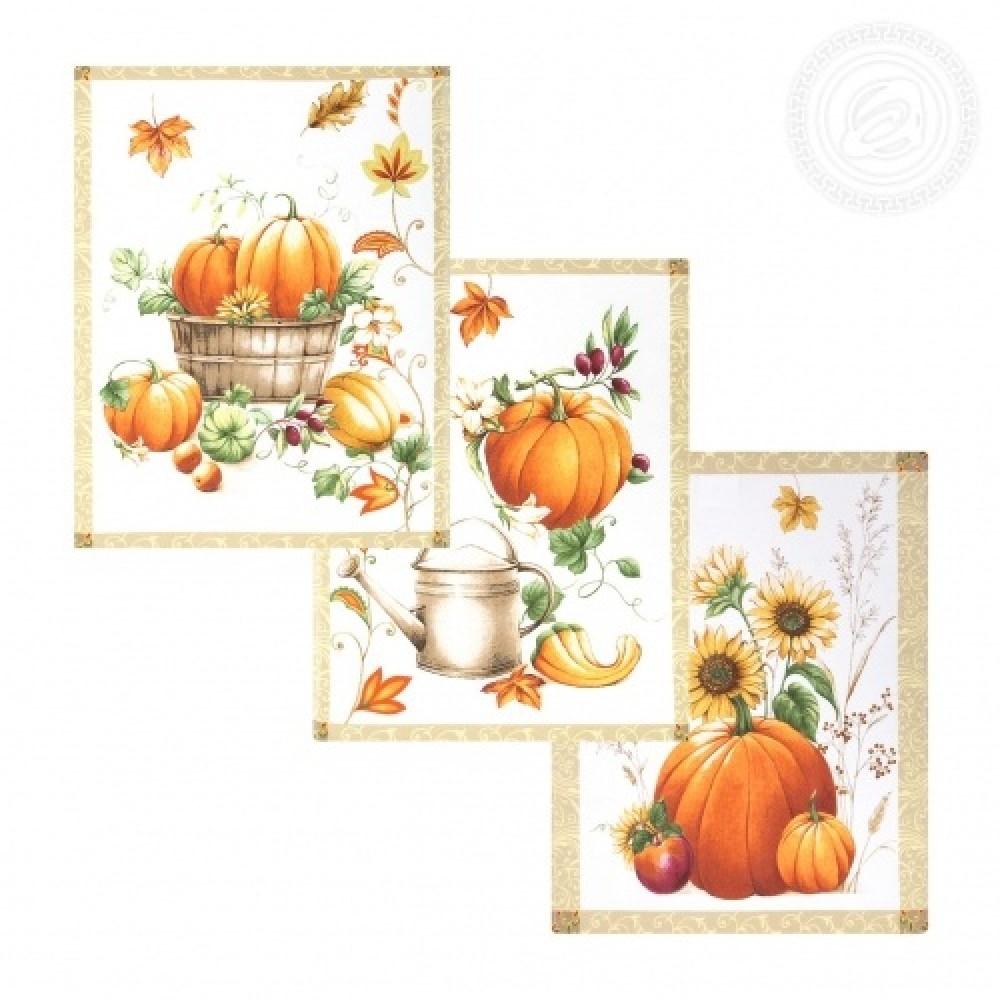 Набор полотенец кухонных Праздник урожая АртДизайн 3 шт 45*60