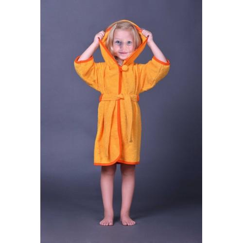 Халат детский ДУ (ушки) р.24 Оранжевый