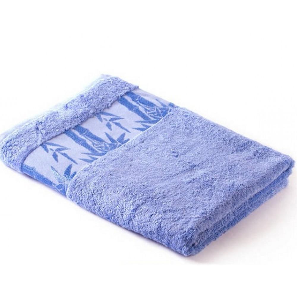 Полотенце Экотекс Бамбук 70*130 голубой (Cornflow Blue) Индия